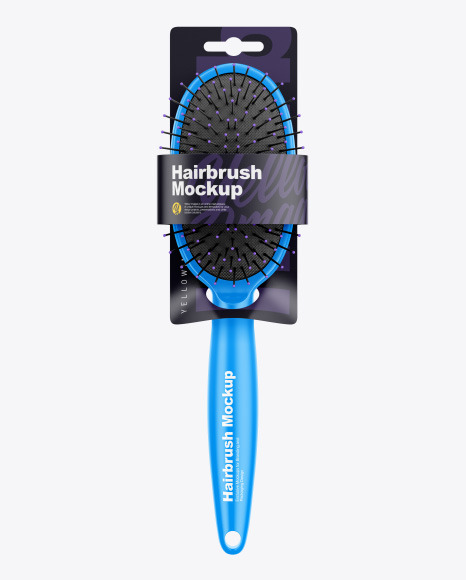 Hairbrush with Label Mockup