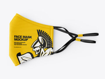 Folded Face Mask Mockup