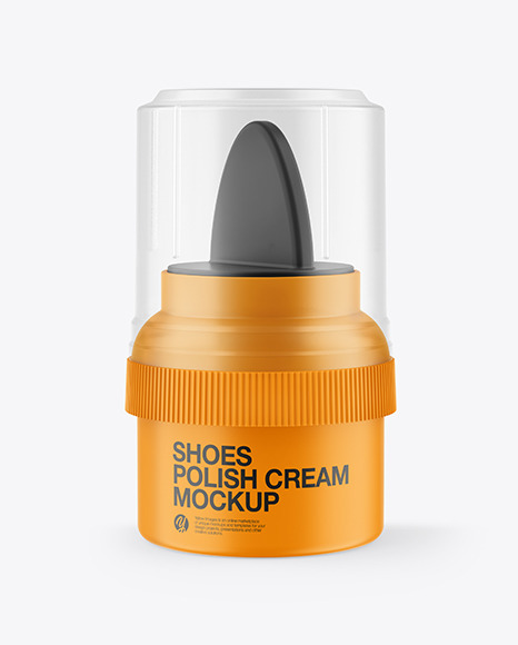 Matte Shoes Polish Cream Mockup