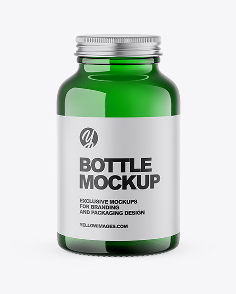Green Bottle Mockup