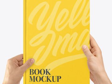Book Mockup in Hands