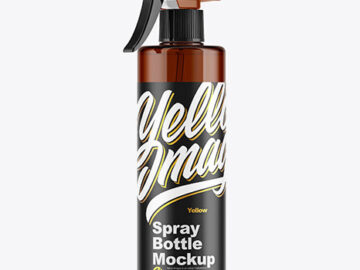 Amber Spray Bottle Mockup