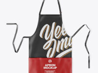 Leather Apron Mockup - Top View