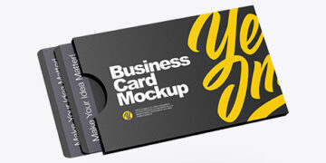 Plastic Card Holder Mockup