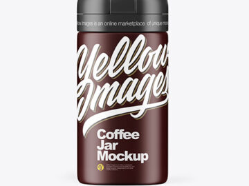Matte Coffee Jar Mockup