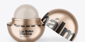 Opened Metallic Lip Balm Mockup