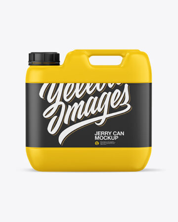 Matte Jerry Can Mockup