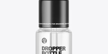 Glass Dropper Bottle Mockup