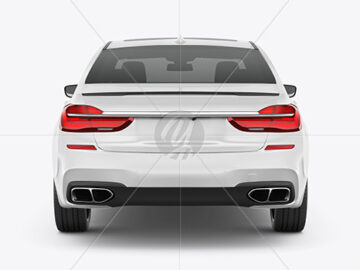Luxury Car Mockup - Back View