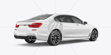 Luxury Car Mockup - Back Half Side View