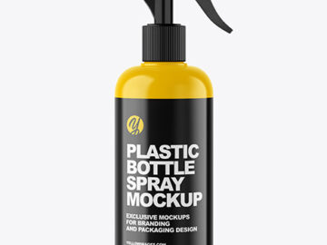 Plastic Bottle Trigger Spray Mockup