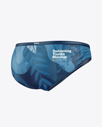 Matte Swimming Trunks Mockup
