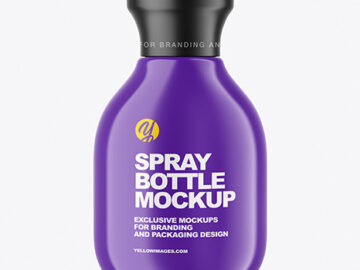 Glossy Spray Bottle Mockup