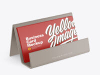 Business Cards with Matte Holder Mockup