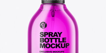 Color Spray Bottle Mockup