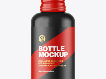 Glossy Bottle w/ Metallic Cap Mockup