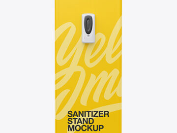Hand Sanitizer Stand Mockup - Front View