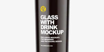 Glass with Dark Drink Mockup