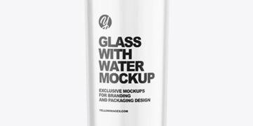 Glass with Water Mockup