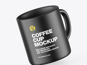 Ceramic Coffee Cup Mockup