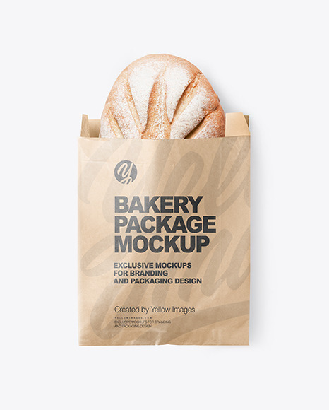 Kraft Paper Bakery Bag Mockup