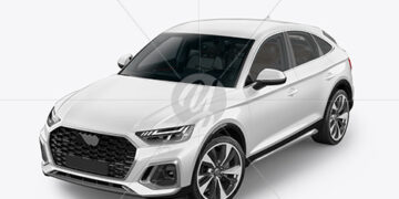 Crossover SUV Mockup – HalfSide View