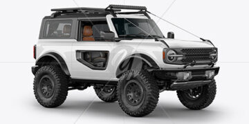 Off-Road SUV Mockup - Half Side View