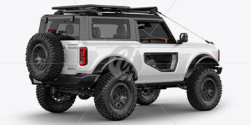 Off-Road SUV Mockup - Back Half Side View