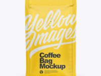 Matte Coffee Bag with Valve Mockup