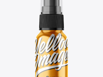 Metallic 50ml Spray Bottle Mockup