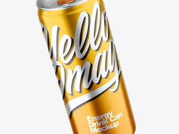 330 ml Matte Metallic Drink Can Mockup