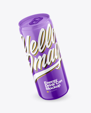 330ml Glossy Drink Can  Mockup