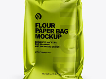 Metallized Paper Flour Bag Mockup