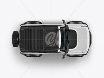 Off-Road SUV Mockup - Top View