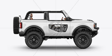 Off-Road SUV Open Roof Mockup - Side View