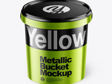 Metallic Bucket Mockup
