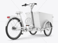 Cargo Bike Mockup - Back RightHalf Side View