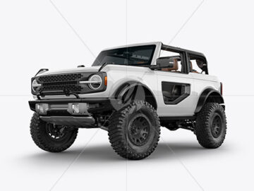 Off-Road SUV Open Roof Mockup - Half Side View (Hero Shot)