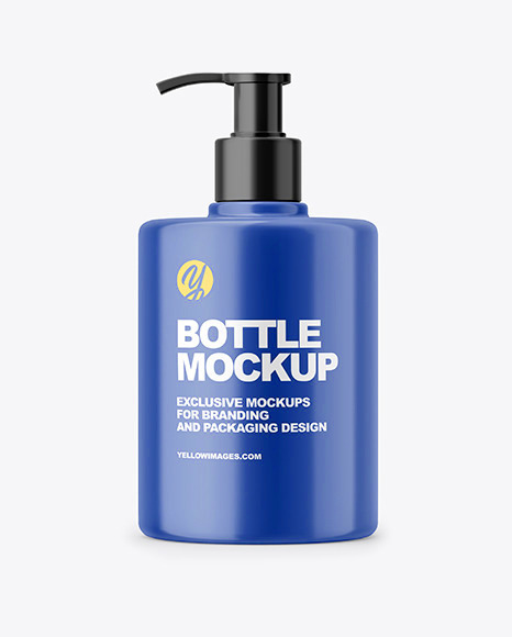 Matte Liquid Soap Bottle with Pump Mockup