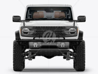 Off-Road SUV Open Roof Mockup - Front View