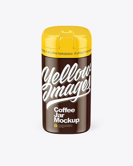 Glossy Coffee Jar Mockup