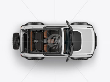 Off-Road SUV Open Roof Mockup - Top View