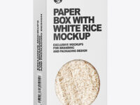 Paper Box with Rice Mockup