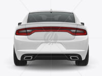 Muscle Car Mockup - Back View