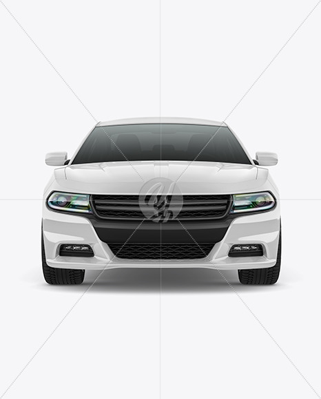 Muscle Car Mockup - Front View