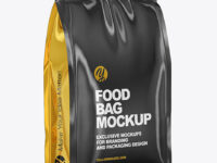 Glossy Food Bag Mockup - Half Side View