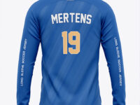 Long Sleeve Soccer Jersey Mockup - Back View