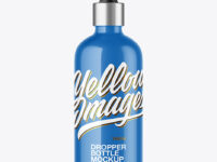 100ml Glossy Dropper Bottle Mockup