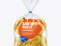 Bag with Kaiser Buns Mockup