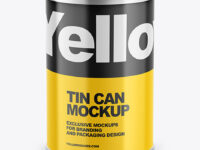 Tin Can w/ Glossy Finish Mockup
